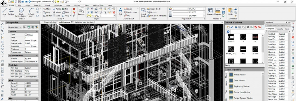 New CMS IntelliCAD 9.0 now supporting BIM